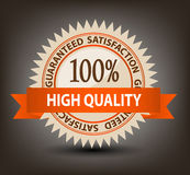 Satisfaction guaranteed label vector illustration Stock Images