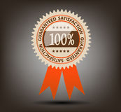 Satisfaction guaranteed label vector illustration Stock Image