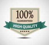Satisfaction guaranteed label vector illustration Stock Photos