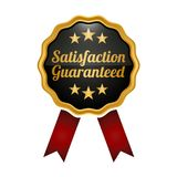 Satisfaction guaranteed medal on white background. Vector illustration Stock Illustration