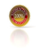 Satisfaction Guaranteed seal over white Royalty Free Stock Photo