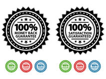 Free Satisfaction Guaranteed Seals EPS Royalty Free Stock Photos - 15376308