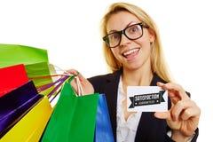 Satisfaction guaranteed while shopping Royalty Free Stock Photos