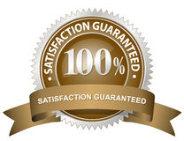 Satisfaction Guaranteed Sign Stock Images