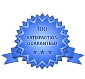 Satisfaction Guaranteed Sign Stock Image