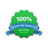 Satisfaction guaranteed sign. 100 percent Satisfaction Guaranteed Sign. Vector illustration Stock Image