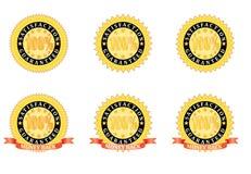 Satisfaction Guaranteed signs. Set of Satisfaction Guaranteed signs vector illustration Stock Photos