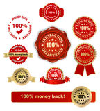 Satisfaction labels Royalty Free Stock Photos