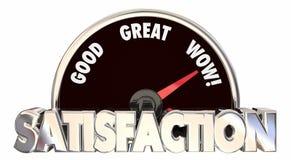 Satisfaction Level Speedometer Measure Stock Image