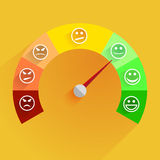 Satisfaction meter. Detailed illustration of a customer satisfaction meter with smilies Stock Photo