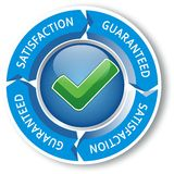 Satisfaction sign Royalty Free Stock Image