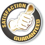Satisfaction sign Royalty Free Stock Photo