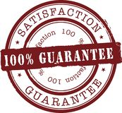 Satisfaction stamp Royalty Free Stock Images