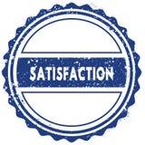 SATISFACTION stamp. sticker. seal. blue round grunge vintage ribbon sign. Illustration Stock Images