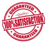 Satisfaction. Stamp with word satisfaction inside, illustration Stock Image