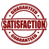 Satisfaction. Stamp with word satisfaction inside,  illustration Royalty Free Stock Photos