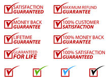 Free Satisfaction Stamps EPS Stock Image - 15805551