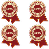 Satisfaction stickers Royalty Free Stock Photography
