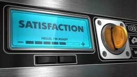 Satisfaction sur l'affichage du distributeur automatique  Images libres de droits