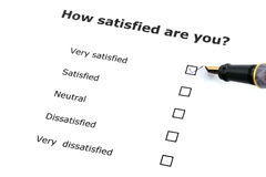 Satisfaction survey Stock Photography