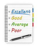 Satisfaction survey form Royalty Free Stock Photography