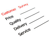 Satisfaction survey showing marketing concept Stock Photos
