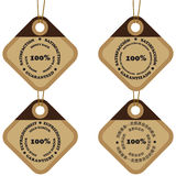 Satisfaction tags Royalty Free Stock Images