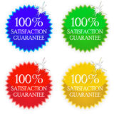 Satisfaction tags Stock Photography