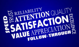 Satisfaction Word Collage Good Great Response Stock Photo