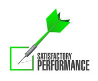 Satisfactory performance check dart illustration Stock Photography
