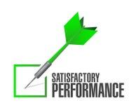 Satisfactory performance check dart illustration Stock Photography
