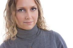 satisfaisant buisnesswoman Photographie stock libre de droits