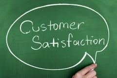 Satisfação do cliente Imagens de Stock