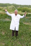 Satisfied agronomist Stock Image