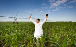 Satisfied agronomist Stock Photos