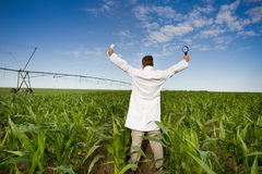 Satisfied agronomist Royalty Free Stock Photo