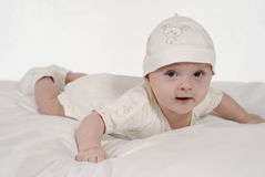 Satisfied baby Royalty Free Stock Photos