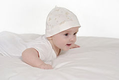 Satisfied baby Stock Photo