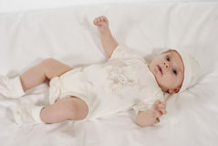 Satisfied baby Stock Images