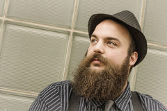 Satisfied Bearded Man Royalty Free Stock Photo