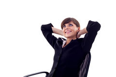 Satisfied business woman Royalty Free Stock Photo