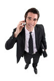A satisfied businessman Stock Photography