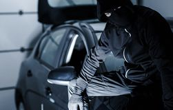 Satisfied Car Theft Stock Photography