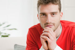 Satisfied confident guy Royalty Free Stock Photo