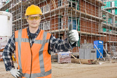 Satisfied construction worker Stock Images
