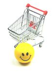 Satisfied customer. A satisfied customer is our goal royalty free stock photography