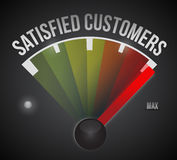 Satisfied customer illustration design Stock Photography