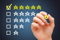 Excellent Five Star Customer Evaluation Concept royalty free stock images