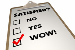 Satisfied Customer Satisfaction Index Survey Checklist Stock Image