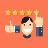 Satisfied customers concept. Flat design stylish. Stock Photography